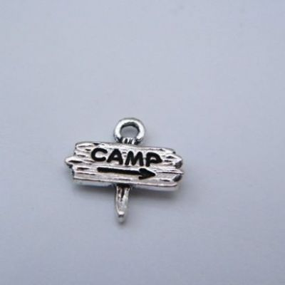 Camping Sign Keyring - Sparkle & Bling Style